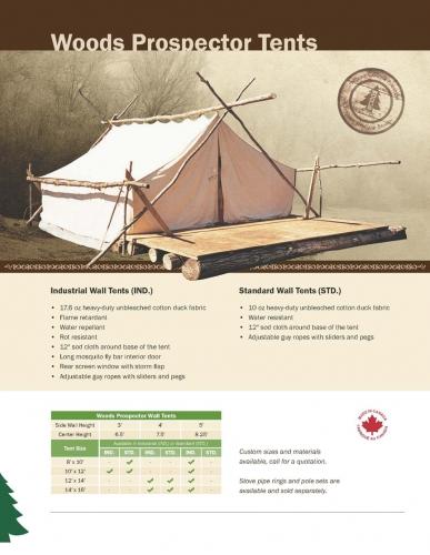 & TentsProspectorProspector tentCamp TentCanvass tent
