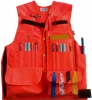 The Forester Cruiser Vest- Orange Polyester without Striping