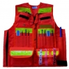The Forester Cruiser Vest- Orange Polyester with Reflective Striping