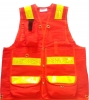 Pack Vest with Internal Harness and Reflective Striping