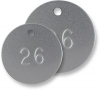 Aluminum Tags - Round - Numbered