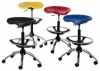 Industrial Drafting Stool with Chrome Base
