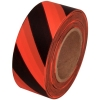 Summer Grade Flagging Tape - Orange/Black Stripe