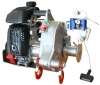 Gas-powered pulling/lifting winch
