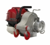 Gas-powered portable capstan winch