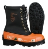 Viking Black Tusk Chainsaw Boots: LeatherTop/ Rubber Bottom/ Lug Sole