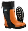 Viking Bushwhacker Rubber Chainsaw Boot: Caulked Sole